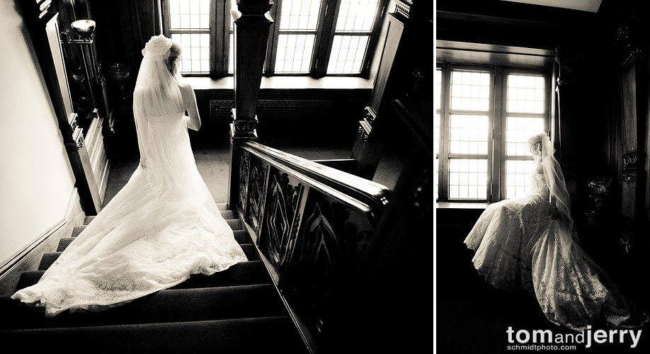 Bridal Portraits in the Loose Mansion Kansas City, Missouri
