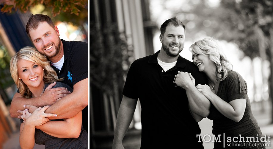 Downtown Kansas City Photographer - Engagement Photo Ideas - Tom and Jerry
