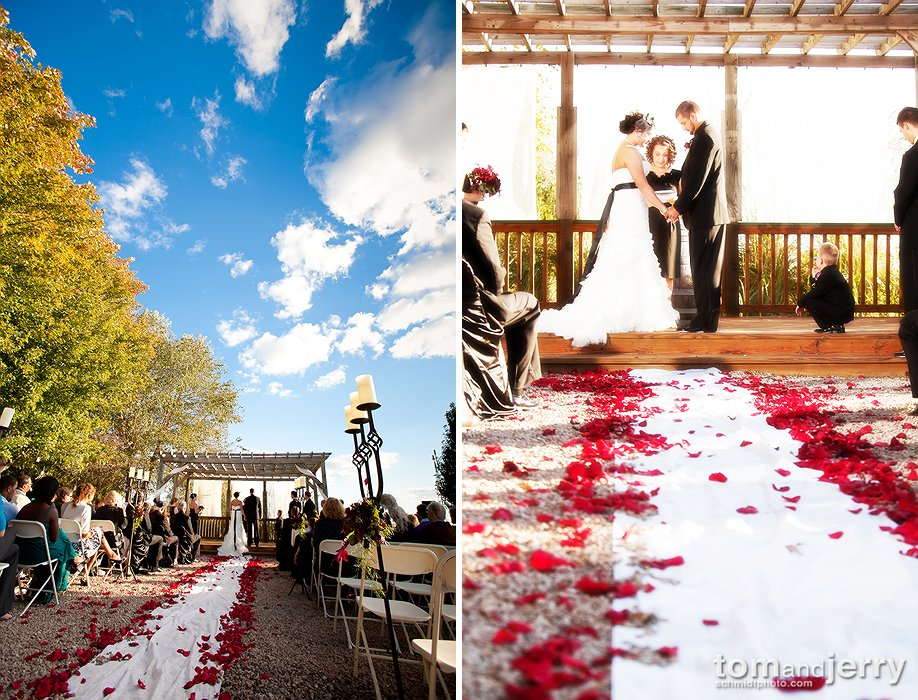 Outdoor Fall Wedding - October Wedding in Missouri - Tom Schmidt Photo