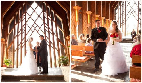 A-frame chapel at powell gardens wedding pictures by schmidt photo