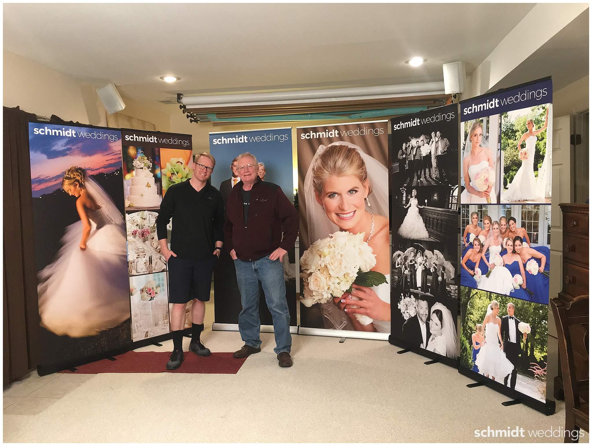 LexJet Banner Stand Bridal Fair Display Schmidt Photo Weddings