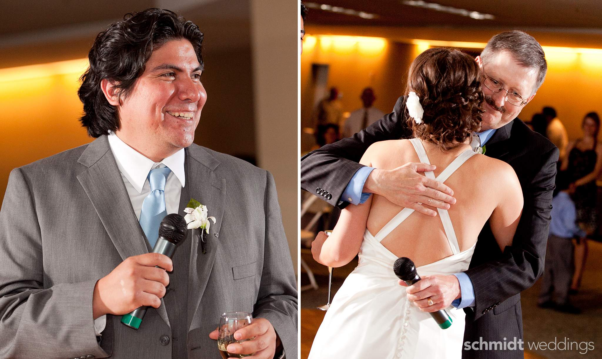 Bouquet toss and first dance reception photos tom schmidt weddings