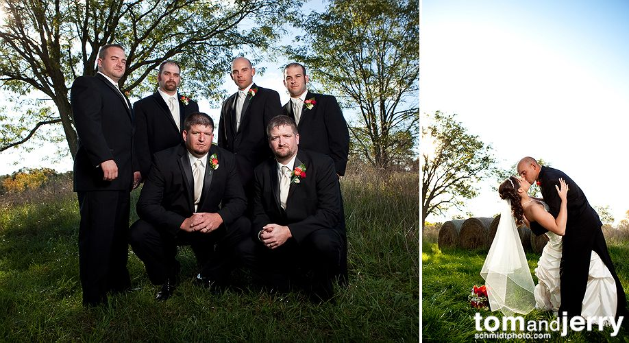 Fun Wedding Portraits - Tom and Jerry Wedding Photographers