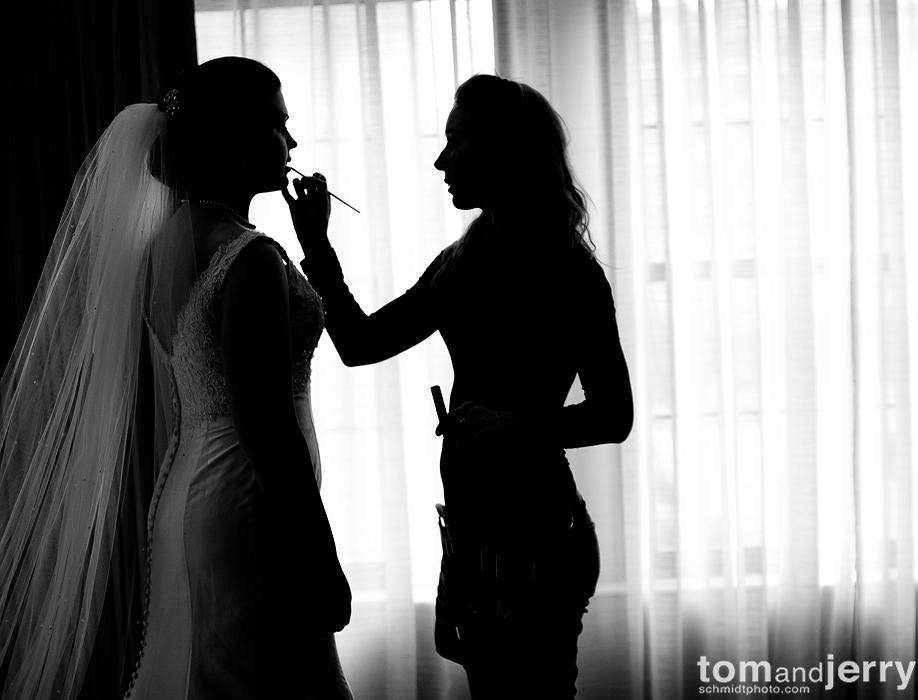 Bridal Dress - Kansas City Wedding Photographer - Bridal Make-up