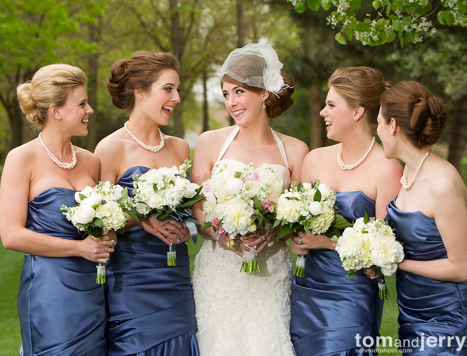 Bride and Bridesmaids - Tom and Jerry Wedding Photographers