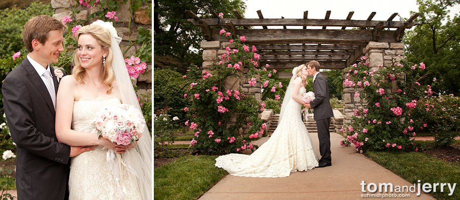 Photographer In Kansas City Tom And Jerry Schmidt Rose Garden Wedding Photo Gallery Dress