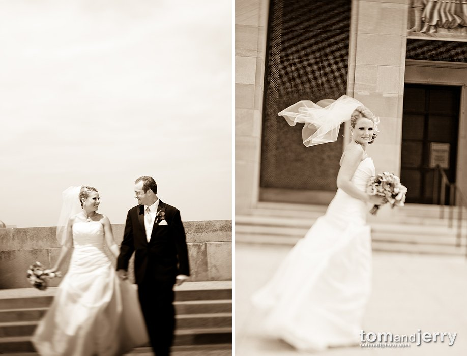 Beautiful Bridal Portraits - Wedding Dresses - Liberty Memorial Kansas City