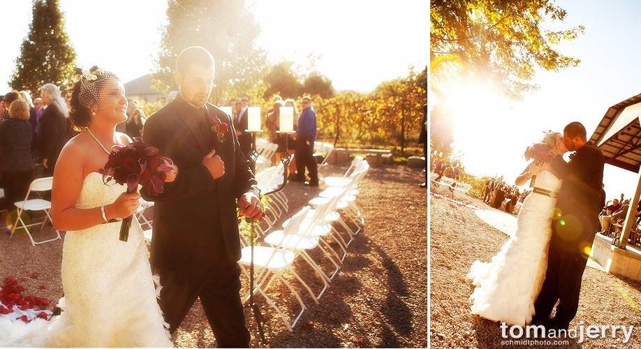 Sunset Wedding Photos - KC Photographer - Tom and Jerry