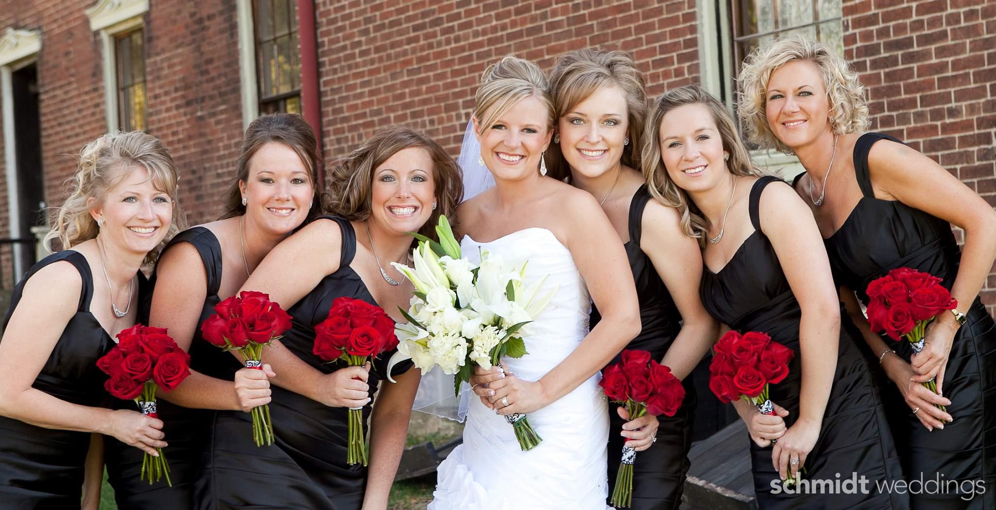 wedding bridal party photos outdoors schmidt weddings