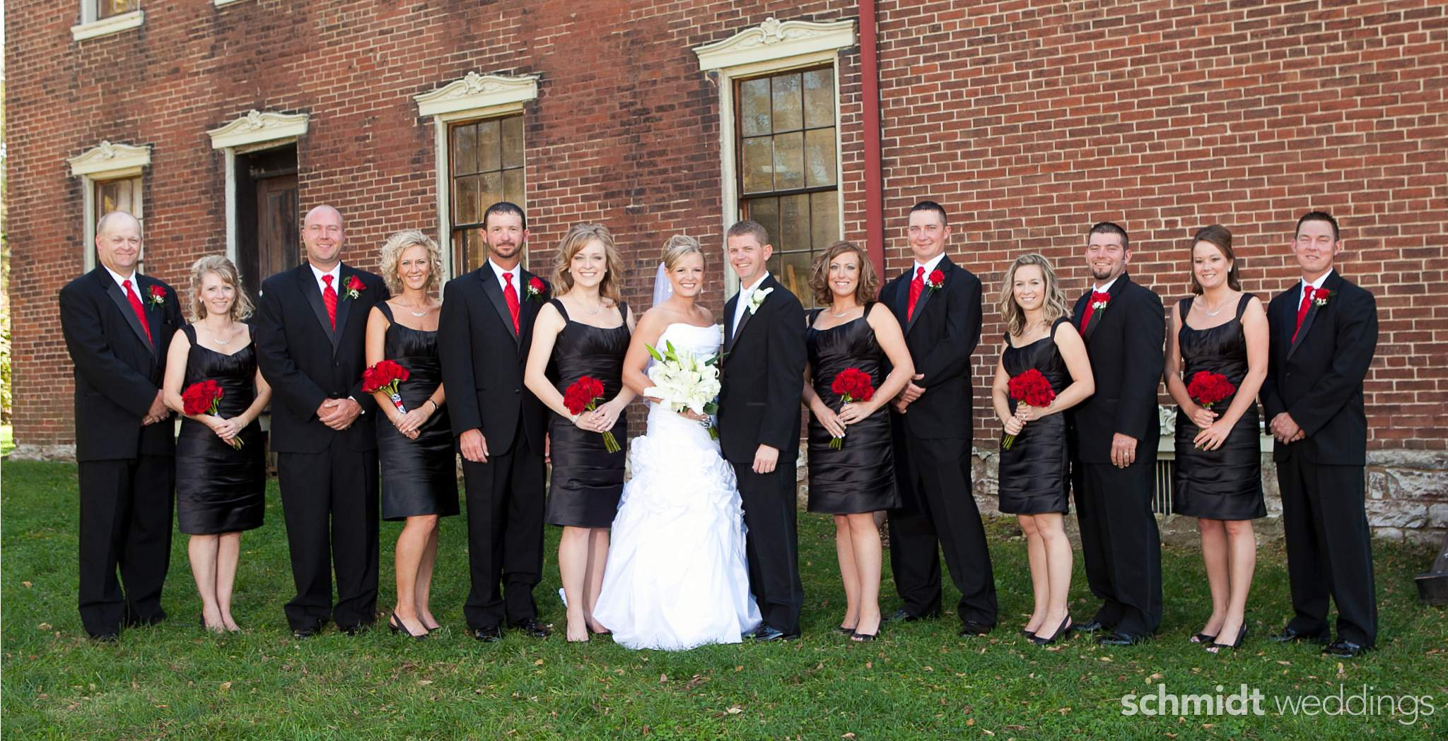 wedding bridal party photos outdoors schmidt weddings